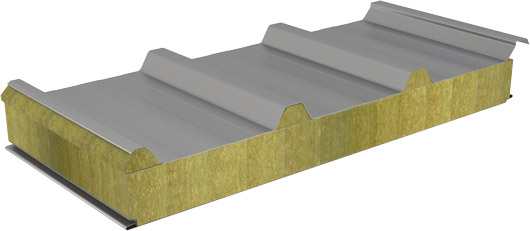 Roof sandwich panels EMR-Mw 1050 with mineral wool