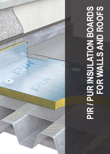 PIR / PUR insulation boards for walls and roofs