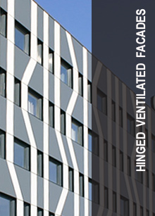 Hinged ventilated facades