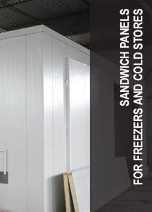 Sandwich panels for freezers and cold stores