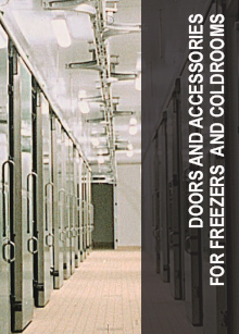 Doors and accessories for freezers and coldrooms
